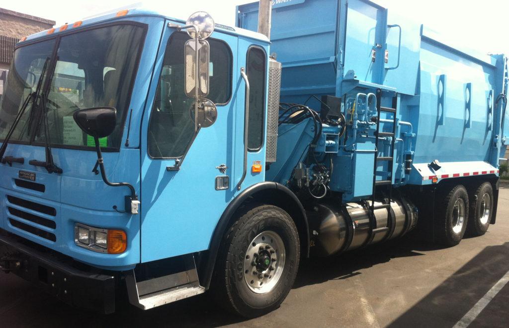 Side Loader Garbage Truck Spotlight